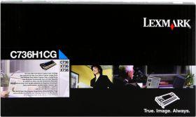 LEXMARK ORIGINAL - Lexmark C736H1CG Cyan (10000 pages) Toner de marque