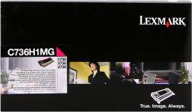 LEXMARK ORIGINAL - Lexmark C736H1MG Magenta (10000 pages) Toner de marque