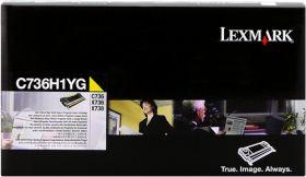 LEXMARK ORIGINAL - Lexmark C736H1YG Jaune (10000 pages) Toner de marque