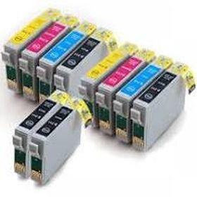 COMPATIBLE EPSON - 18XL MultiPack de 10 cartouches génériques avec Puces