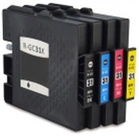 COMPATIBLE RICOH - GC-31 Pack de 4 Cartouches de gel remanufacturées (Noir, Cyan, Magenta, jaune) avec puces