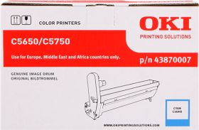 OKI ORIGINAL - OKI 43870007 Cyan (20000 pages) Tambour de marque