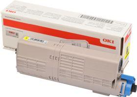 OKI ORIGINAL - OKI 46490401 Jaune (1500 pages) Toner de marque