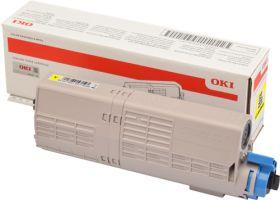 OKI ORIGINAL - OKI 46490605 Jaune (6000 pages) Toner de marque