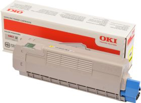 OKI ORIGINAL - OKI 46507505 Jaune (6000 pages) Toner de marque