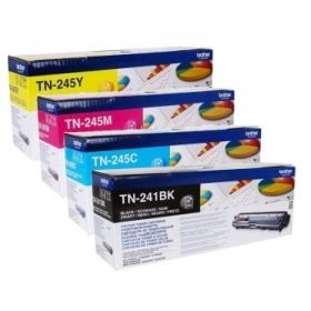 BROTHER ORIGINAL - Brother TN-241 / TN-245 Pack de 4 Toners (Noir, Cyan, Magenta, Jaune)