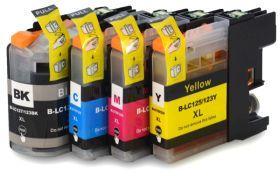 COMPATIBLE BROTHER - LC-127XL / LC-125XL Pack de 4 cartouches génériques (noir, cyan, magenta, jaune)