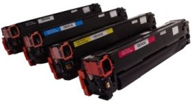 COMPATIBLE HP - 125A Pack de 4 Toners remanufacturés