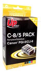 PREMIUM - UPrint PGI-5 / CLI-8 Pack de 5 cartouches compatibles Canon Qualité Premium