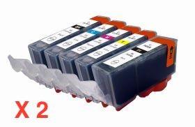 COMPATIBLE CANON - 1 ACHETE=1 OFFERT ! Pack 5 Cartouches génériques PGI520/CLI521