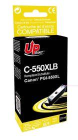 PREMIUM - UPrint PGI-550XL Noir (22 ml) Cartouche remanufacturée Qualité Premium (puce intégrée)