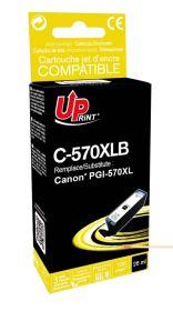 UPRINT - UPrint PGI-570XL Noir (26 ml) Cartouche remanufacturée Canon Qualité Premium (puce intégrée)