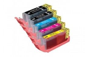COMPATIBLE CANON - PGI-570XL Noir / CLI-571XL - Pack de 5 Cartouches génériques