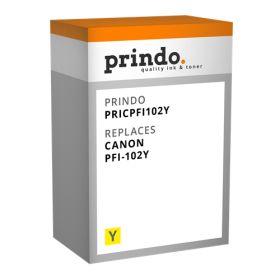 COMPATIBLE CANON - PFI-102 Jaune (130 ml) Cartouche générique