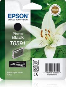EPSON ORIGINAL - Epson T0591 Noir (13 ml) Cartouche de marque