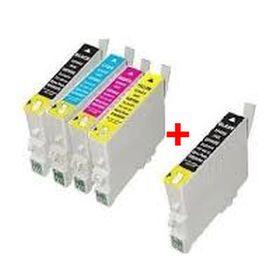 COMPATIBLE EPSON - T0615 Pack 4 cartouches génériques + 1 noire offerte