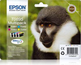 EPSON ORIGINAL - Epson T0895 Multipack de 4 cartouches (Noir, Cyan, Magenta, Jaune)