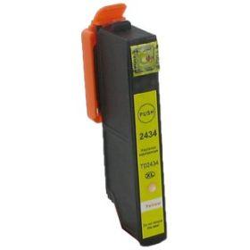 COMPATIBLE EPSON - 24XL jaune (12 ml) Cartouche générique T2434 avec puce