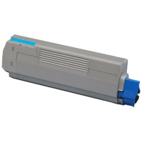 COMPATIBLE OKI - 44059107 Cyan (8000 pages) Toner remanufacturé OKI