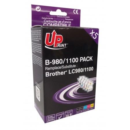 UPrint LC-980/ LC-1100 Pack 5 cartouches génériques